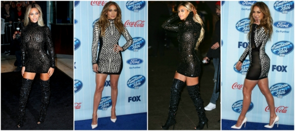 Who wore it best??? Beyonce' vs Jennifer Lopez